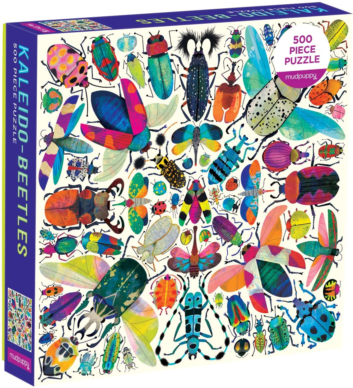 Kaleido Beetles 500pc Family Jigsaw Puzzle by Mudpuppy