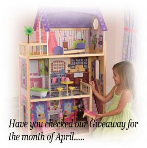 Have you checked our Giveaway for the month of April......