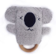 Kevin Koala Dingaring ~ Teething ring & Rattle ~ O.B.Designs Australia 0+