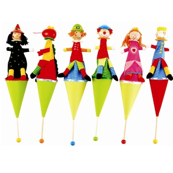 ROYAL POP UP CONE PUPPETS ROYAL SET X 6