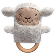Sheryl Sheep Dingaring ~ Teething ring & Rattle ~ O.B.Designs Australia 0+