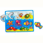 Wooden knob sea creatures puzzle by Fun factory