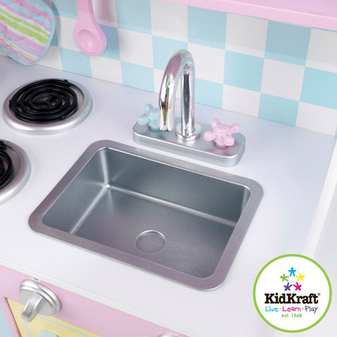 Wooden Large Pastel Kitchen by Kidkraft