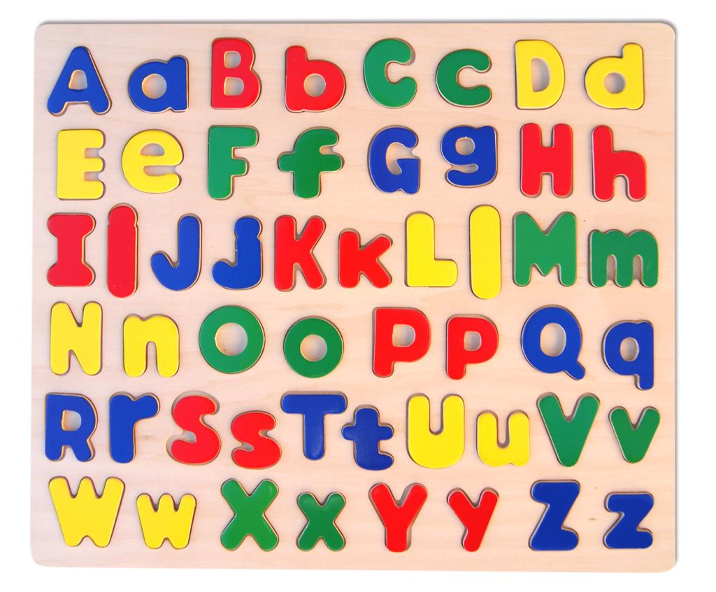 Wooden Upper Case & Lower Case Large Alphabet puzzle by Fun Factory