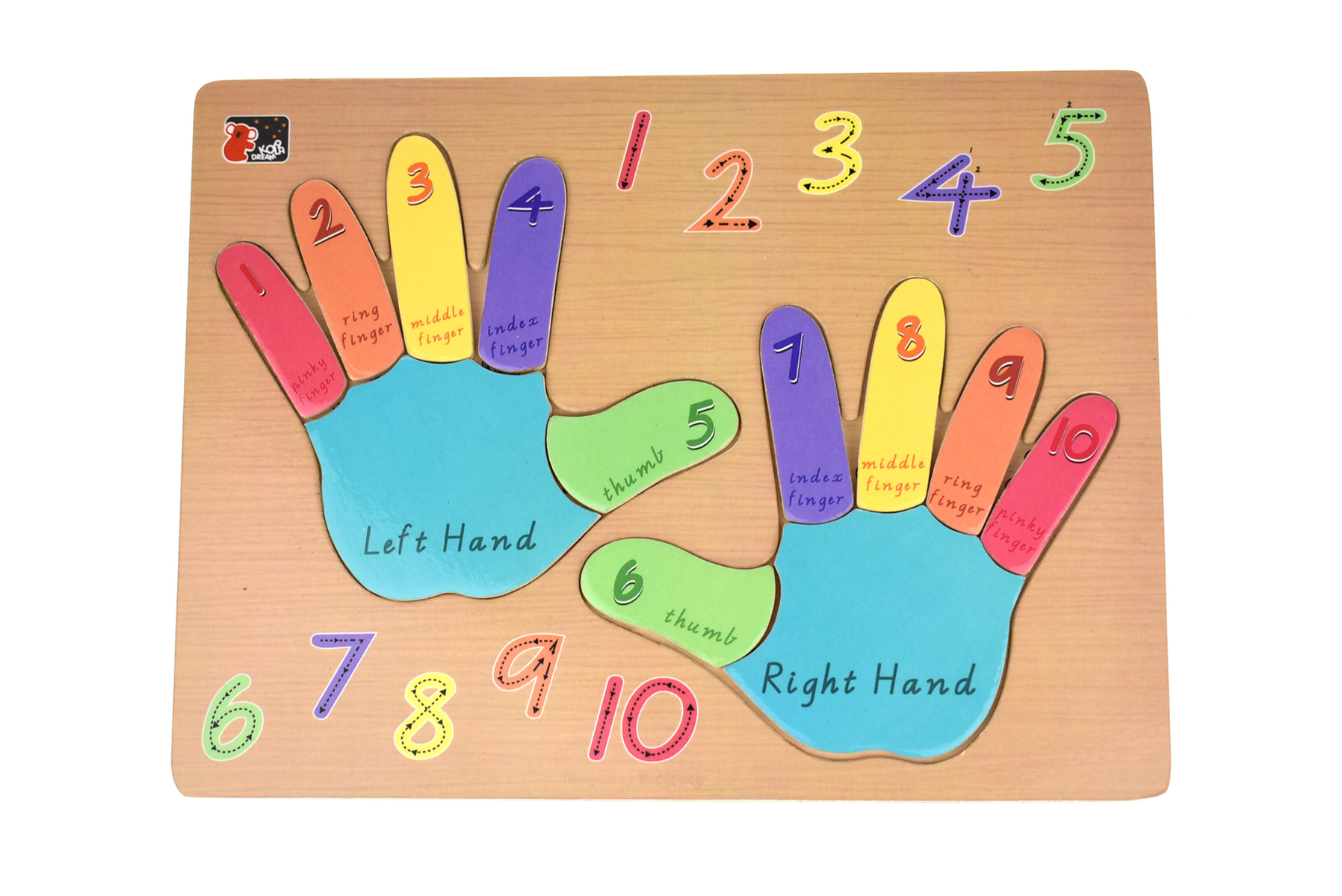 Wooden Left & Right Hand puzzle by Kaper Kids