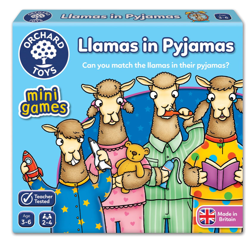 Llamas in Pyjamas Mini Game by Orchard Toys