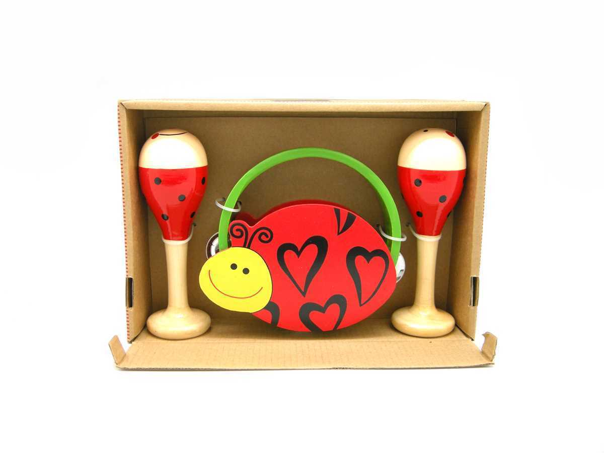 Musical set x 3 Ladybird Design by Kaper Kidz