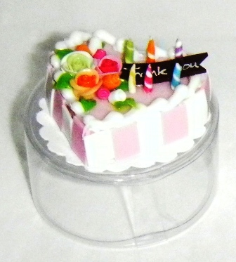MINIATURE CAKE -THANK YOU MESSAGE