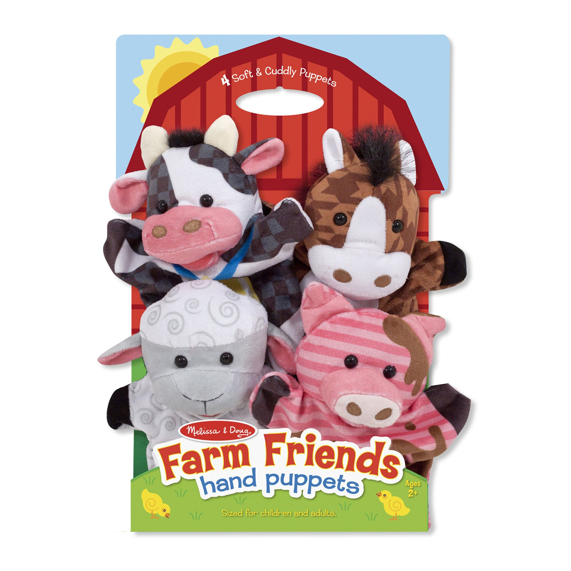 Melissa & Doug ~ Farm Friends Hand Puppets 2+