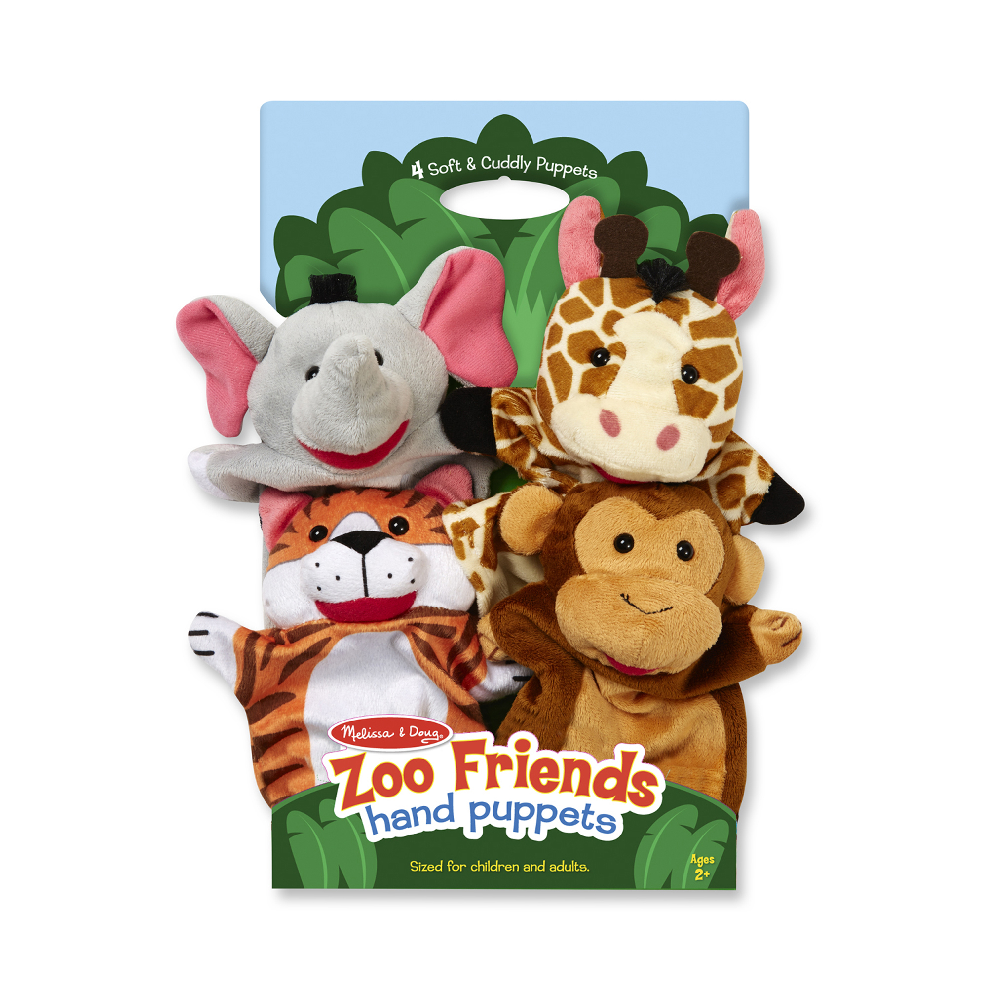 Melissa & Doug ~ Zoo Friends Hand Puppets 2+
