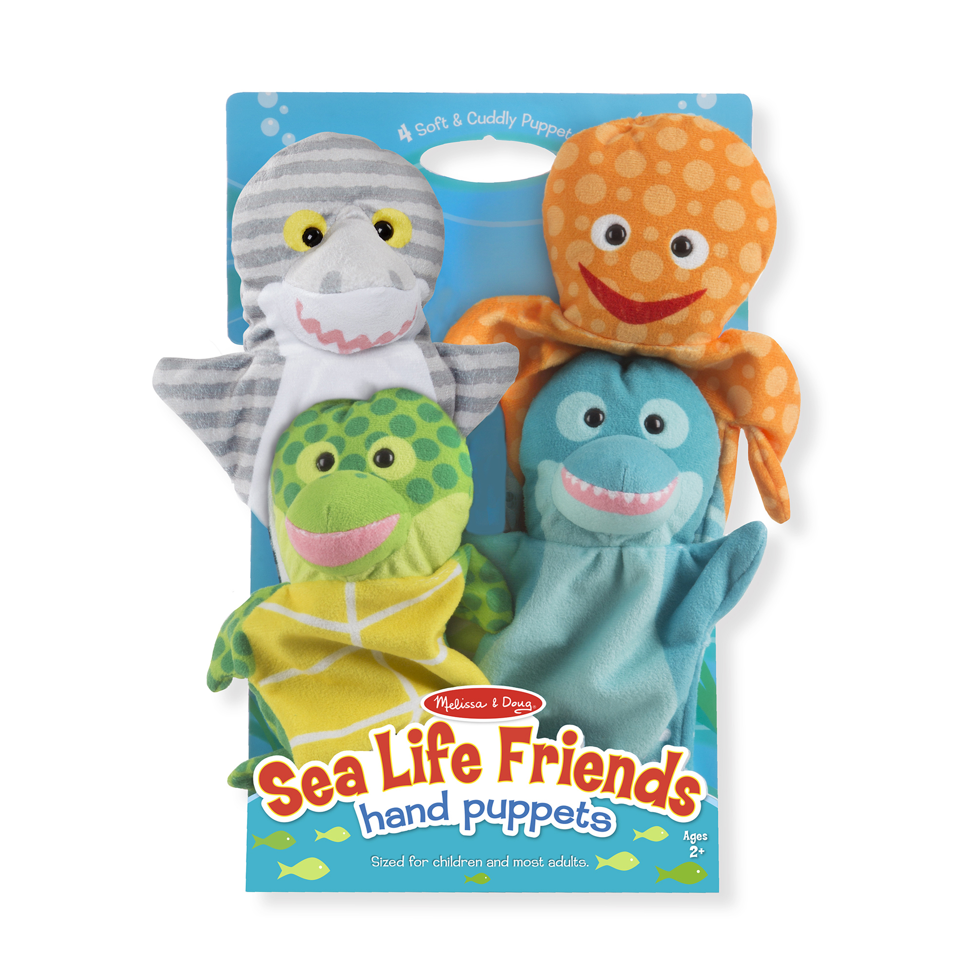 Melissa & Doug ~ Sea Life Friends Hand Puppets 2+