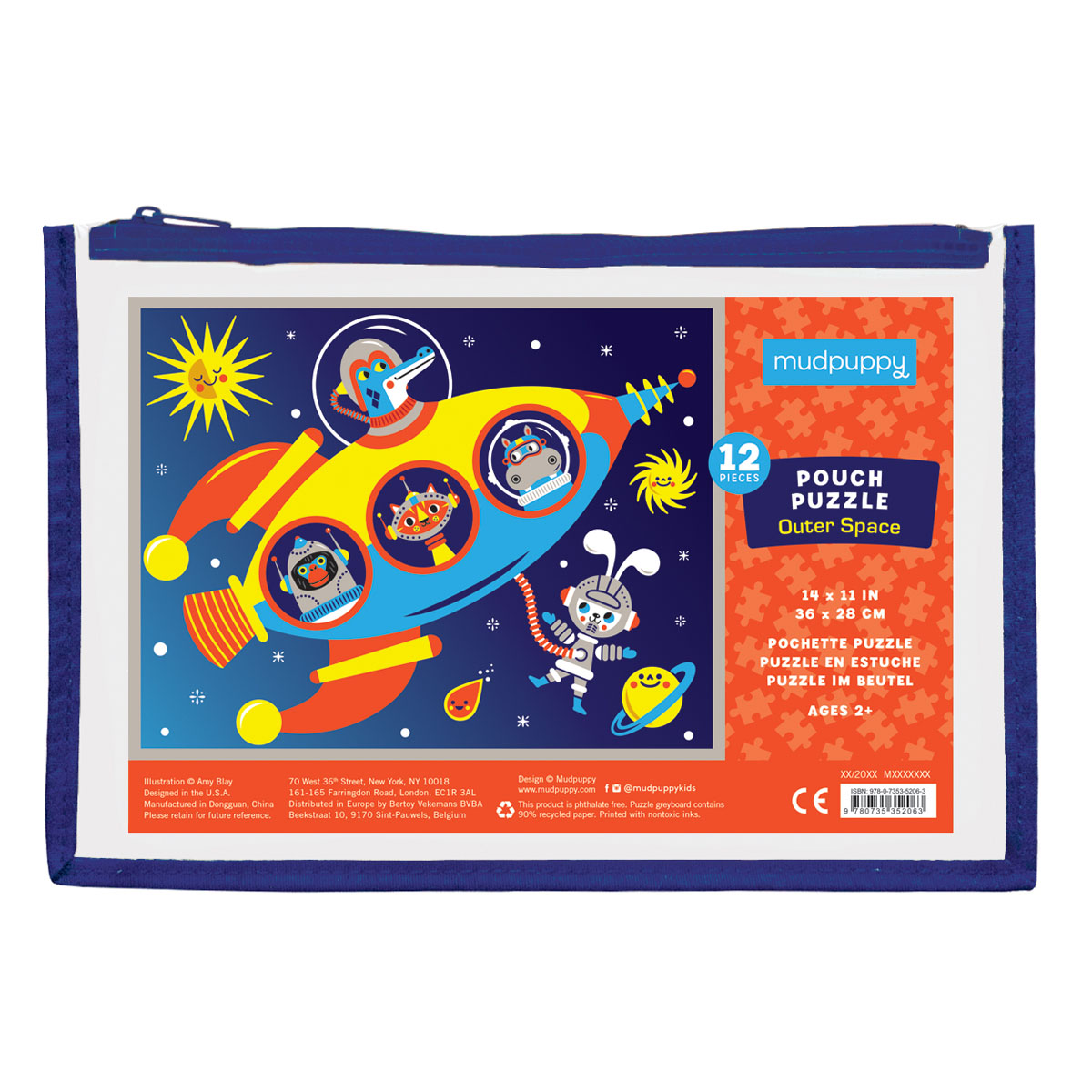 Mudpuppy 12 Piece Puzzle -- Space