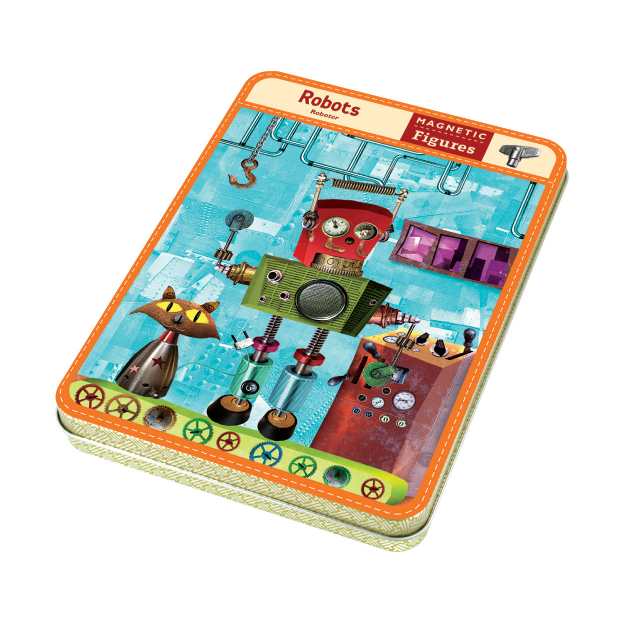 Mudpuppy -- Magnetic Design Play set -- Robots