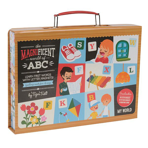 Magnificent World of ABC Magnetic set by Tiger Tribe - My World ~ spelling made fun & easy 4+