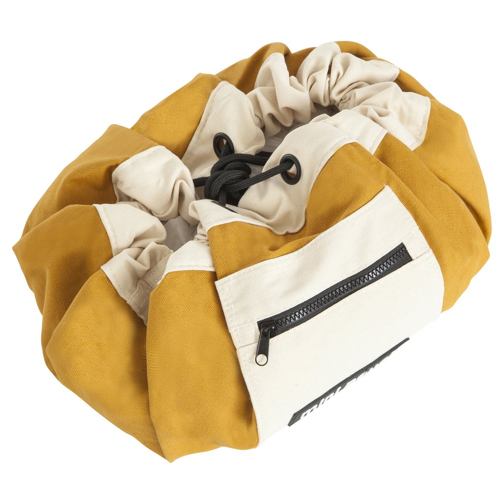 Mini Play Pouch Colonial Mustard - Storage Bag and Play Mat In One