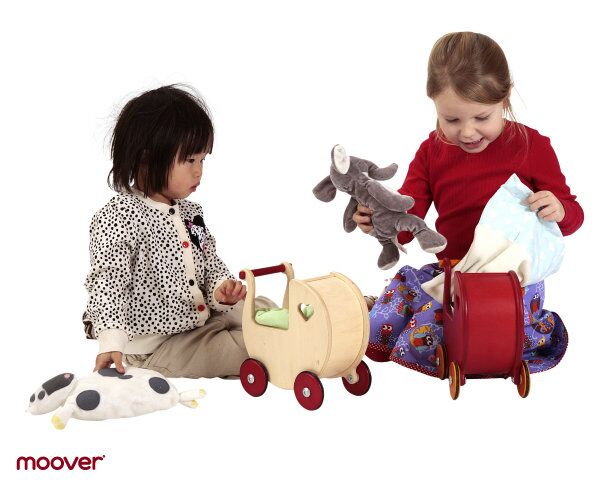 Mini Dolls Pram by moover ~ Red