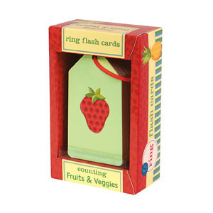Mudpuppy Ring Flash Cards -- Counting Fruit & Veggies