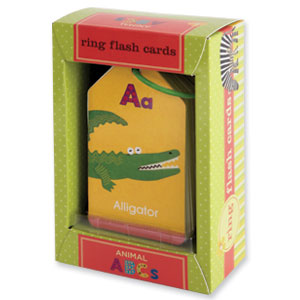 Mudpuppy Ring Flash Cards -- Animal ABC