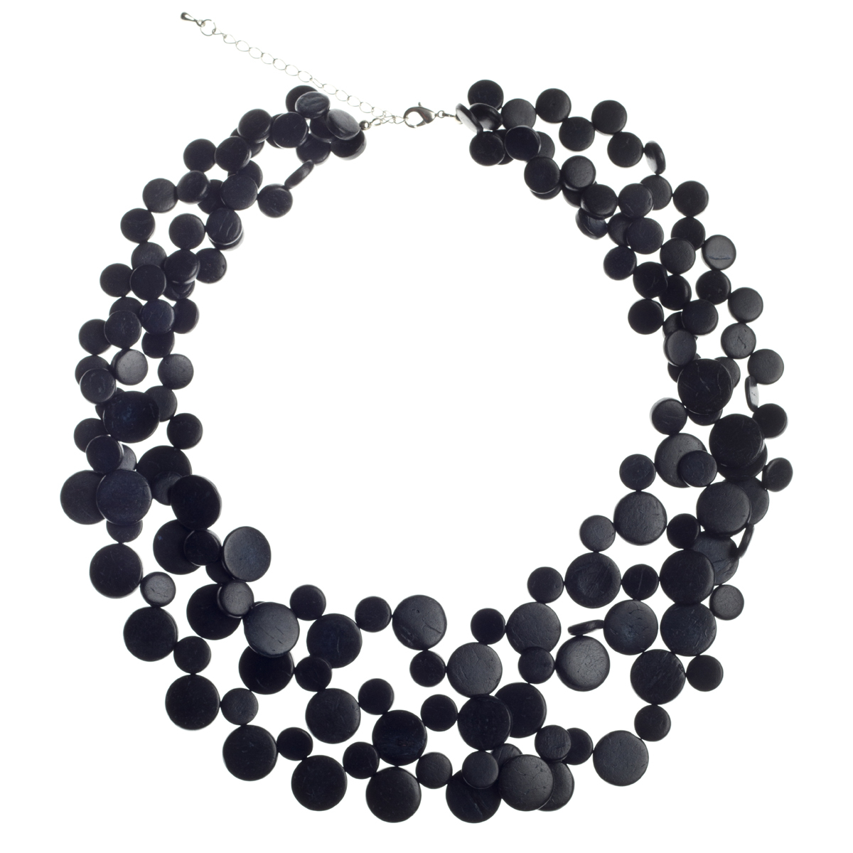 Black Smarties 3 Strand Necklace by Cool Coconut