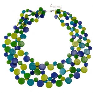Lush Lagoon 3 Strand Necklace by Cool Coconut