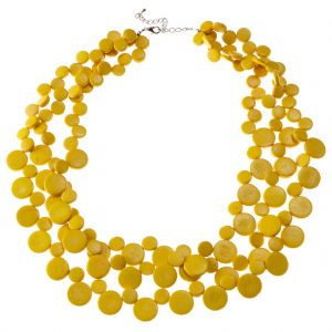 Sunshine Yellow 3 Strand Necklace by Cool Coconut