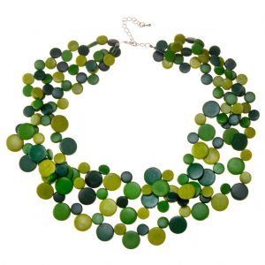 Mossy Forest 3 Strand Necklace by Cool Coconut