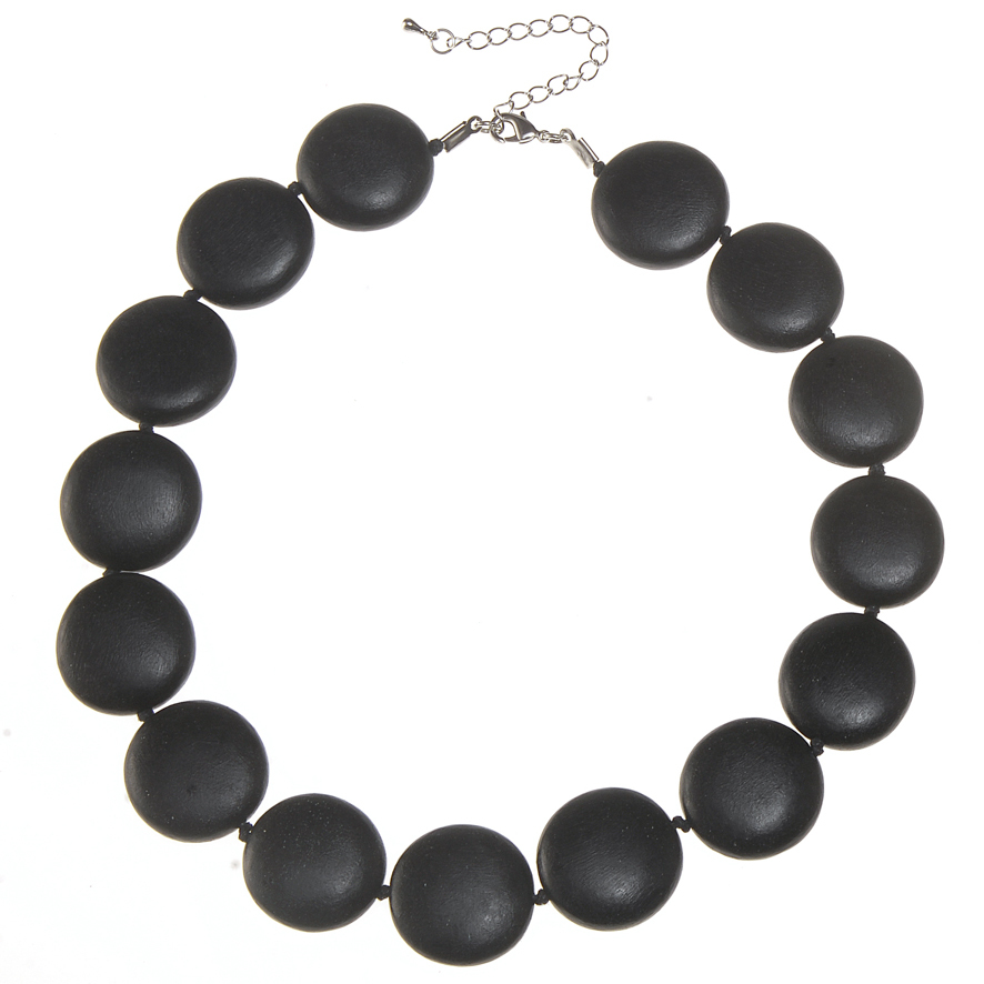 Black Lucy Short Necklace by Cool Coconut