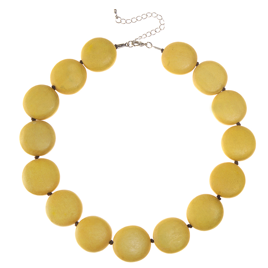 Sunshine Yellow Lucy Short Necklace by Cool Coconut