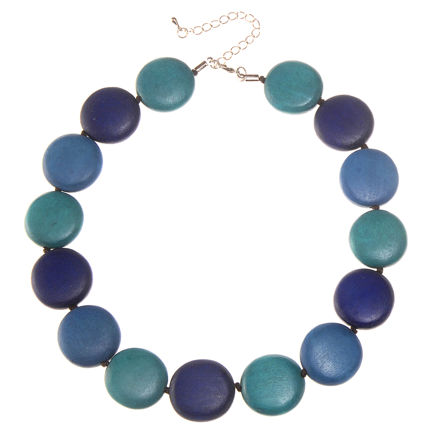 Blues Combination Lucy Short Necklace by Cool Coconut