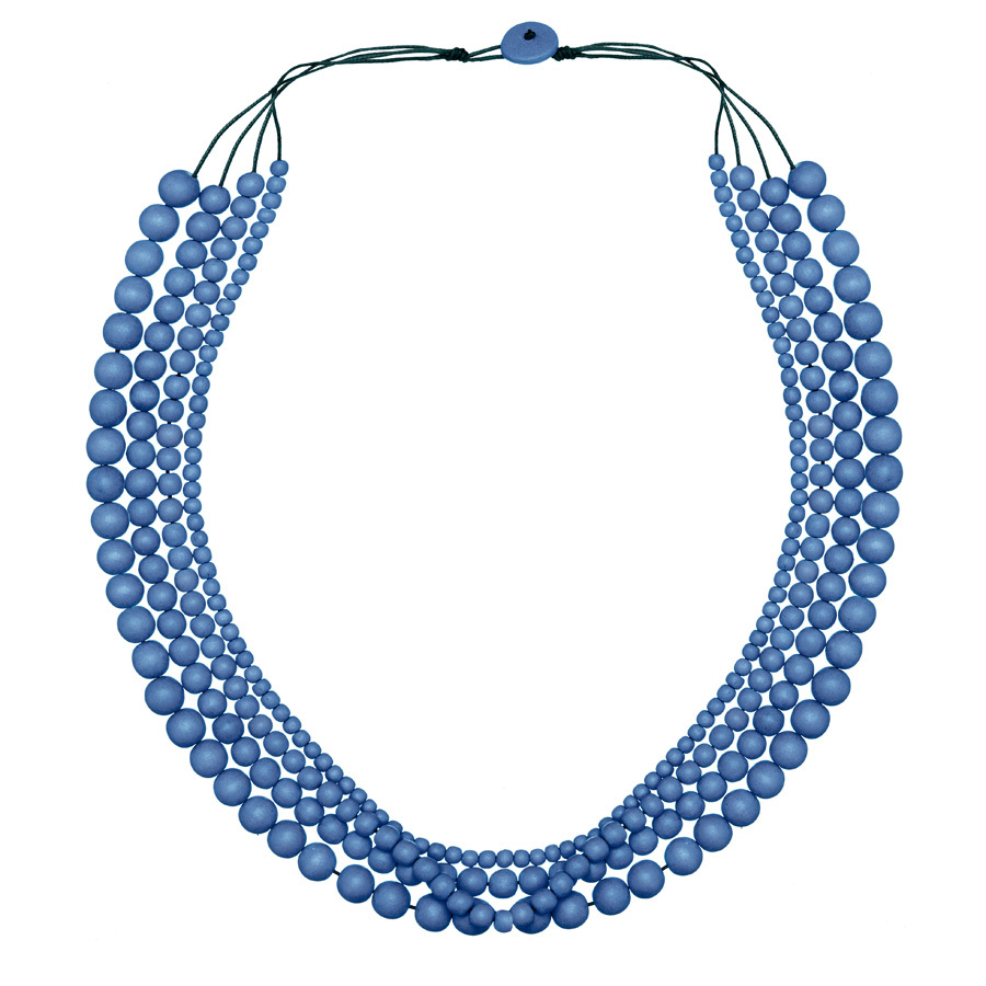 Denim Blue Bella 4 Strand Necklace by Cool Coconut
