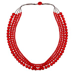 Red Bella 4 Strand Necklace by Cool Coconut