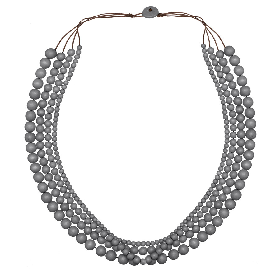 Shady Grey Bella 4 Strand Necklace by Cool Coconut