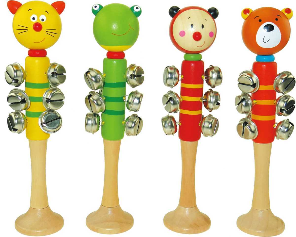 Animal Bell Stick with base by Kaper Kids 0+