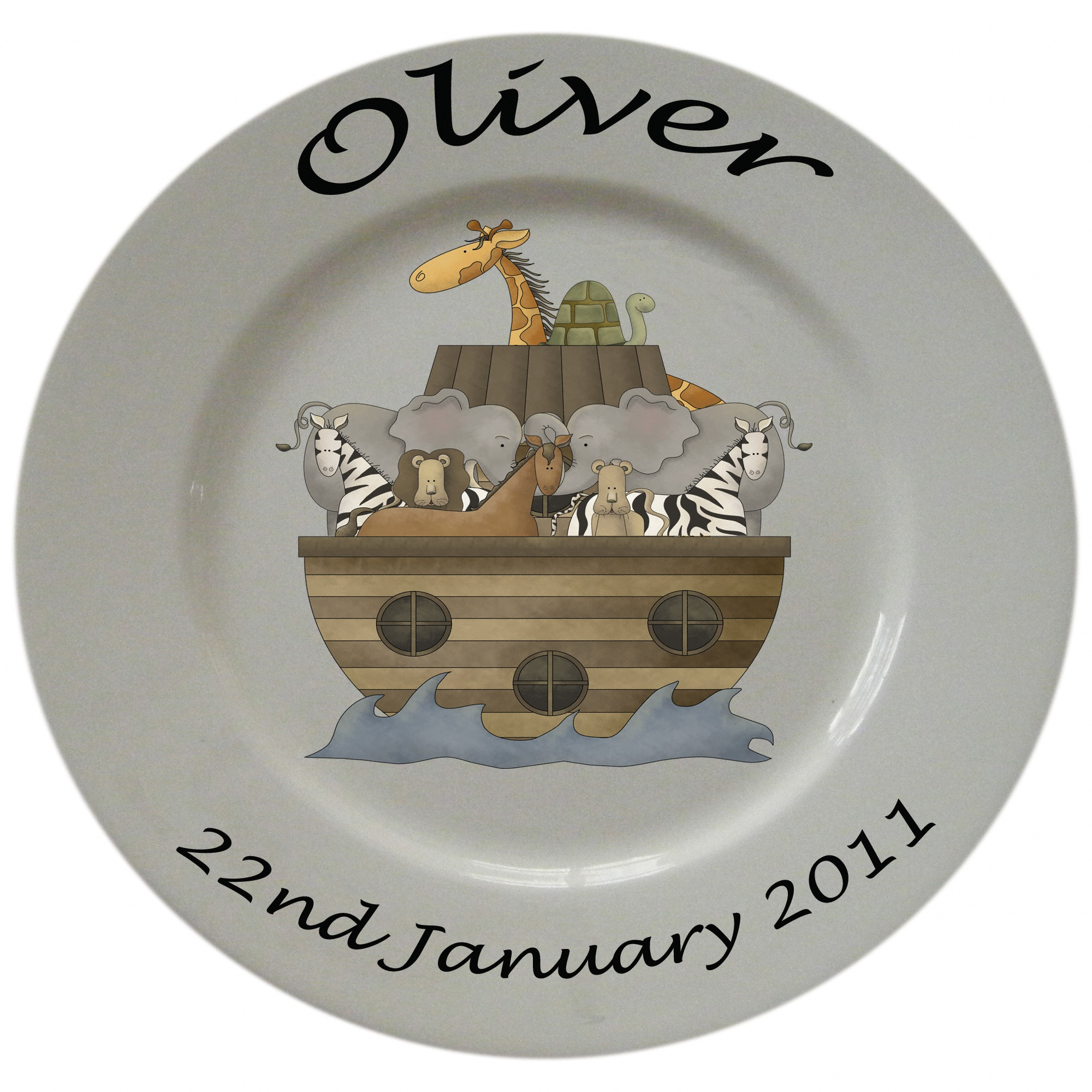 Personalised Porcelain Plates For Boys