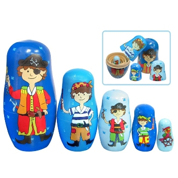 Nesting Pirate Babushka Dolls by Fun factory