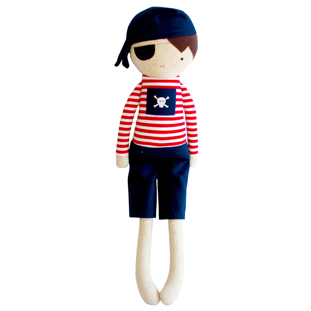 Linen Pirate Boy in Navy By Alimrose