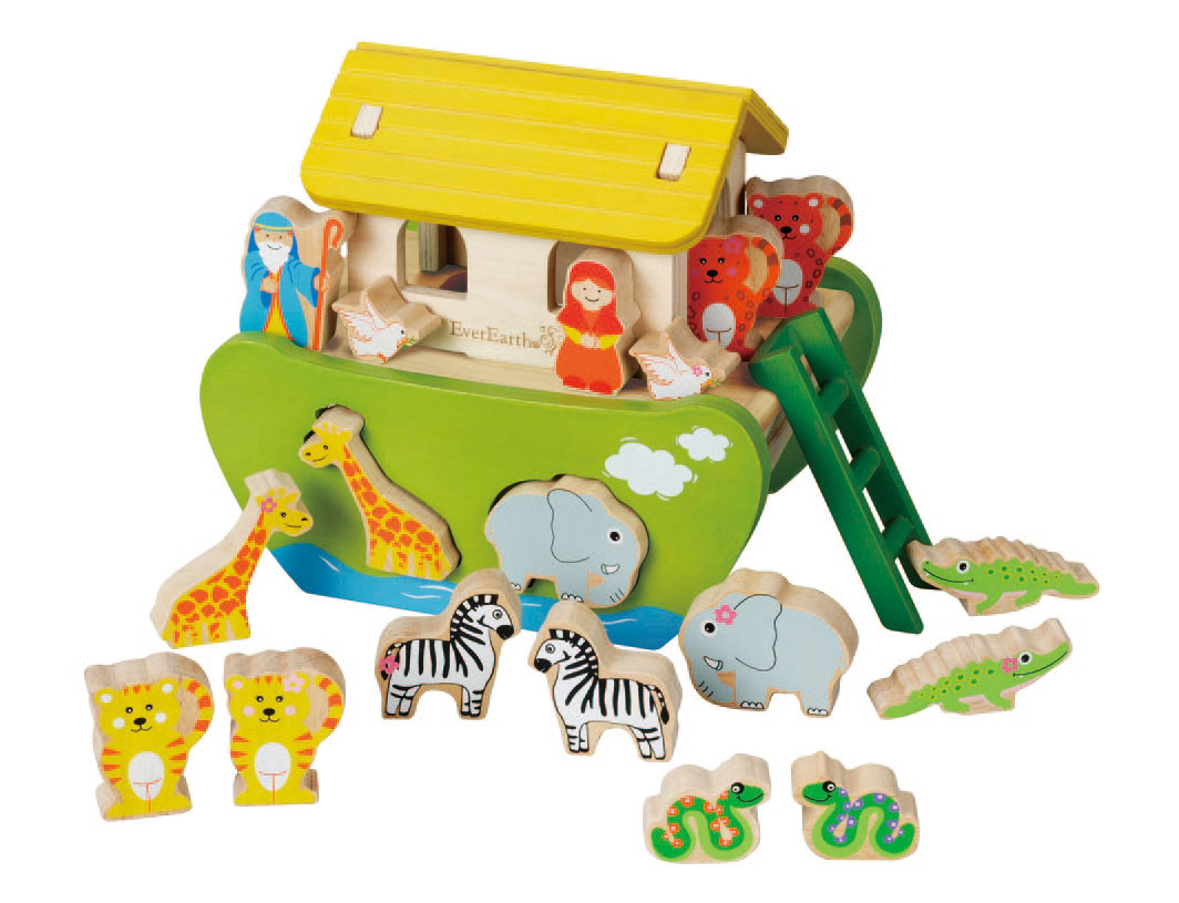 Wooden Noah's Ark by EverEarth ~ Eco friendly ~ Shape Sorter