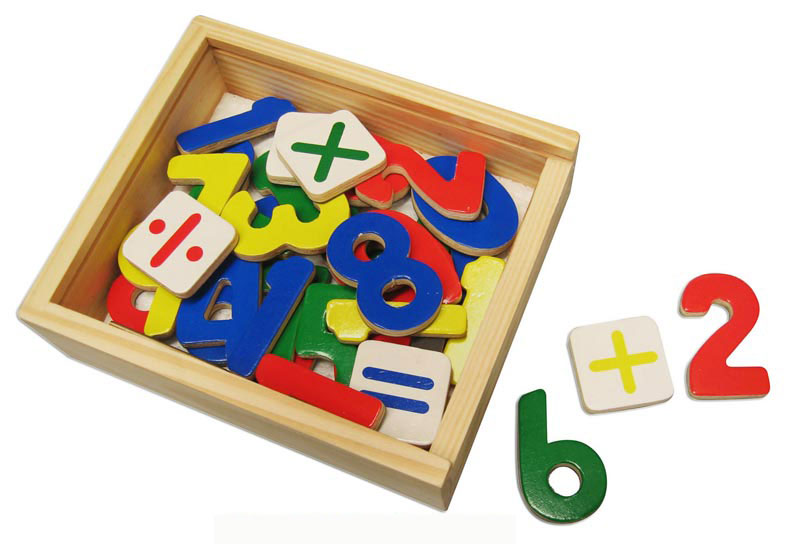 Wooden Magnetic Numbers by Viga Toys
