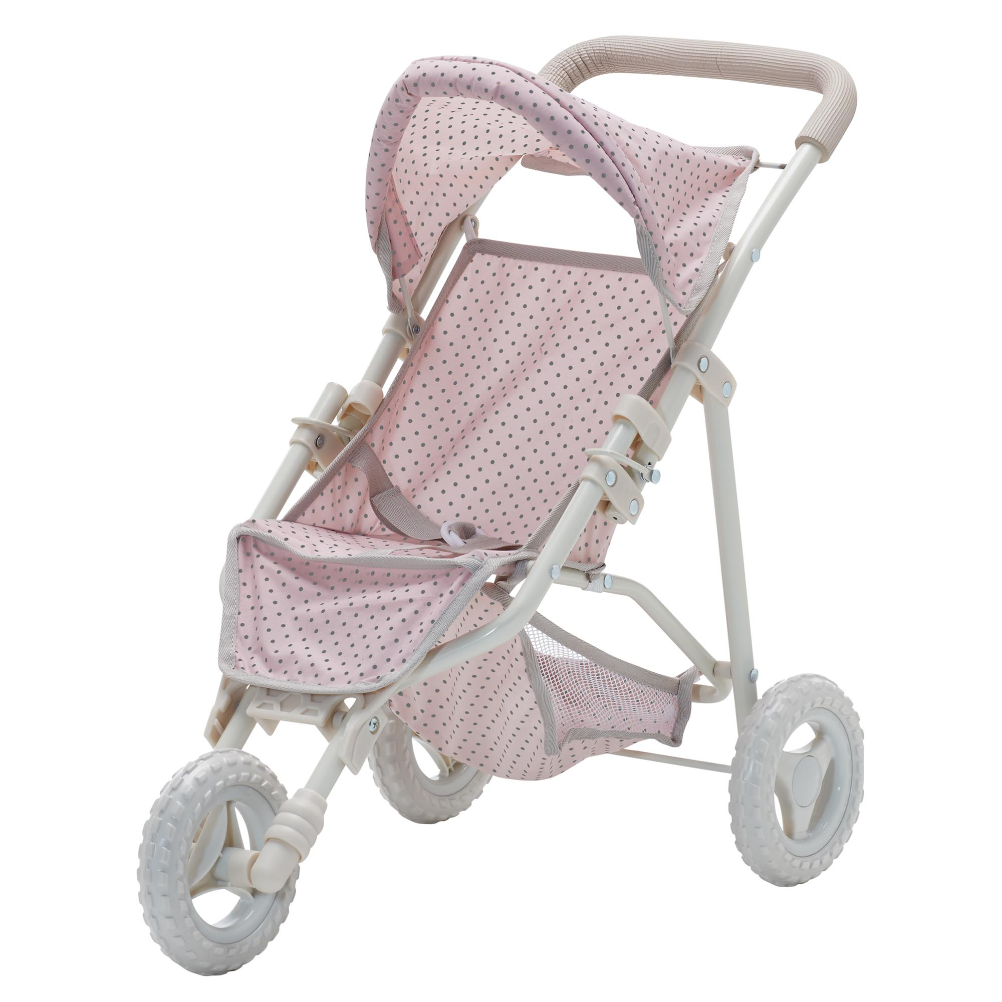 Olivia's little world ~ Polka Dot Princess 45cm Doll Furniture ~ Baby doll jogging stroller 3+