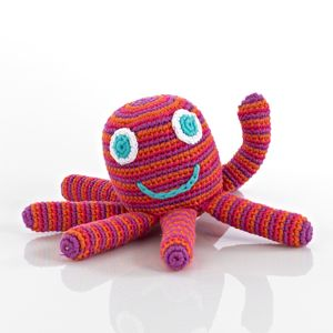 Octopus Rattle in Pink by Pebble