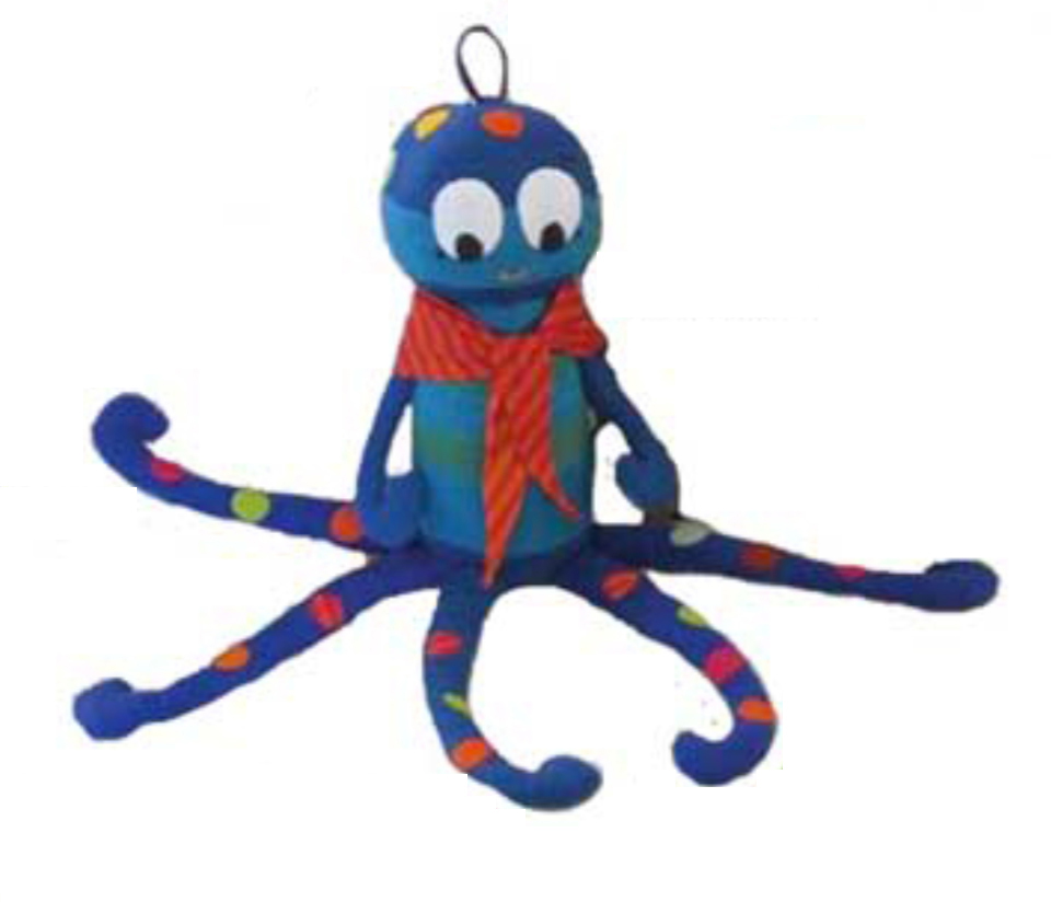 Olly the Octopus Cuddly Toy by Barefoot