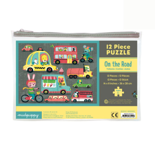 Mudpuppy 12 Piece Puzzle -- On the Road