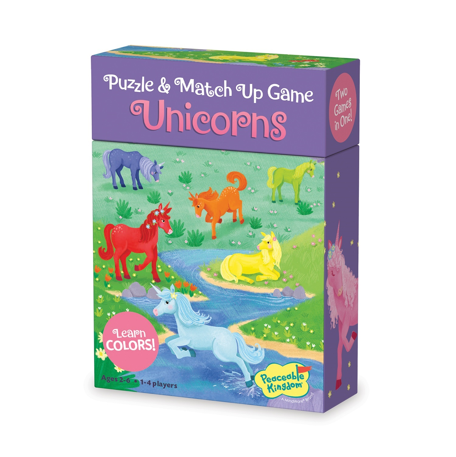 Match Up Game & Puzzle, Unicorn theme - learning colours by Peaceable Kingdom