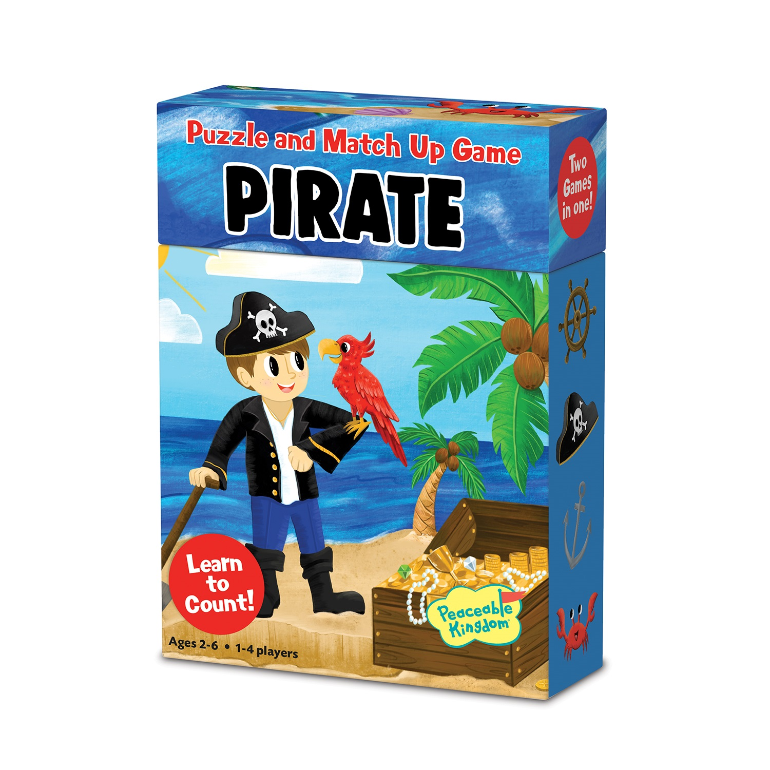 Match Up Game & Puzzle, Pirate - Learn to count by Peaceable Kingdom