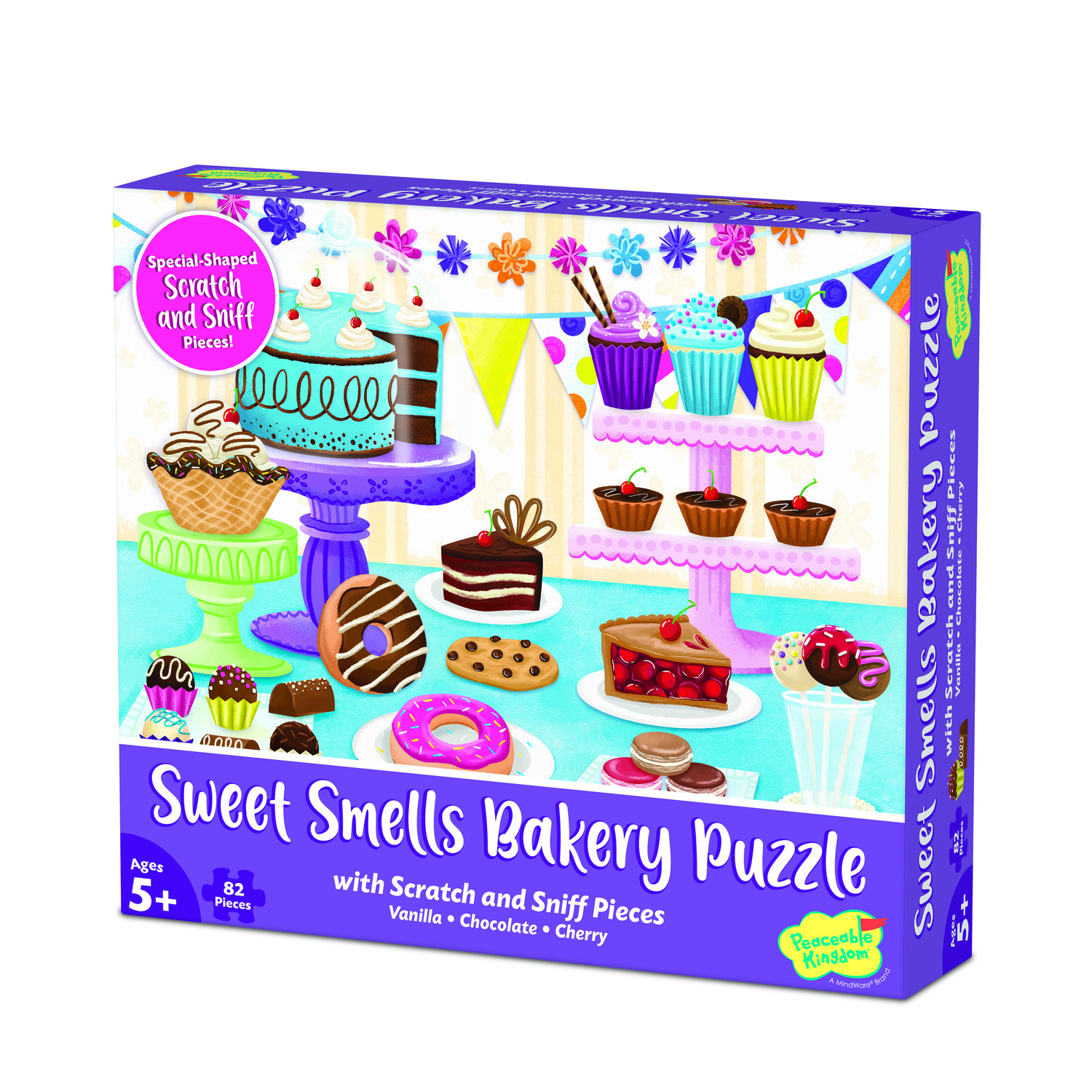 Scratch and Sniff  82pc Jigsaw Puzzle: Sweet Smells Bakery by Peaceable Kingdom 5+