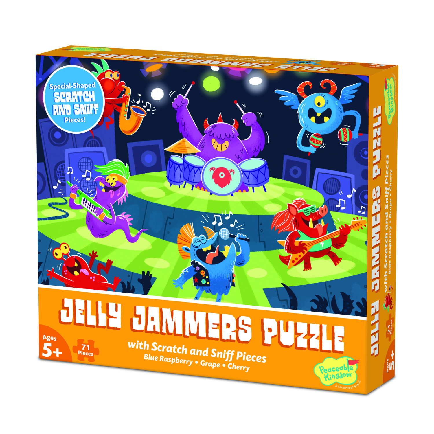 Scratch and Sniff 71pc Jigsaw Puzzle: Jelly Jammers by Peaceable Kingdom 5+