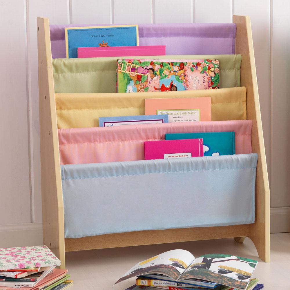 Sling bookshelf in pastel colours by Kidkraft