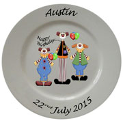 Personalised Porcelain Plate ~ Clown Designs