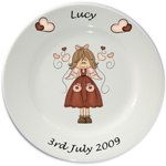 Personalised plate for Girls - Angel (Lucy) Design