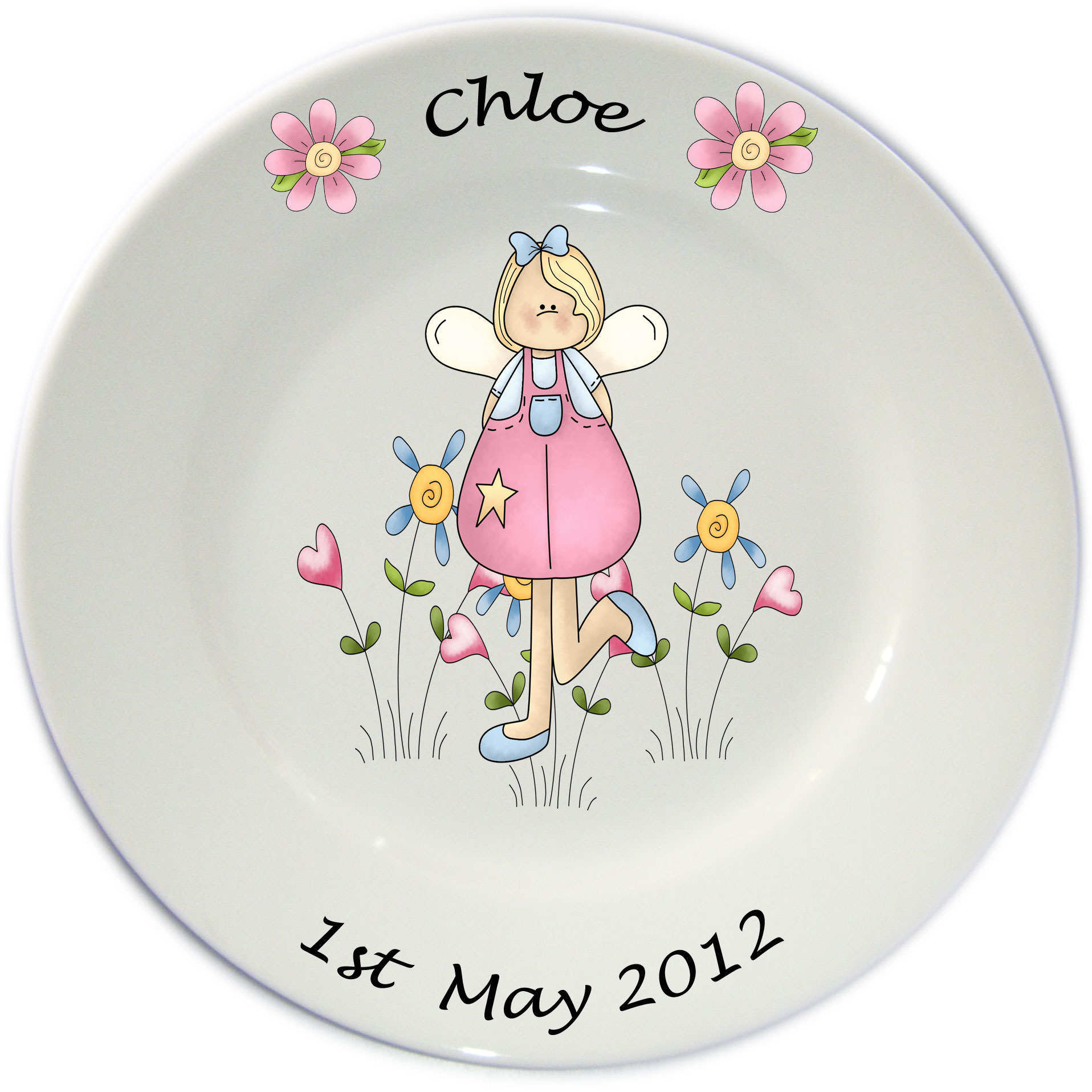 Personalised Porcelain Plates for Girls